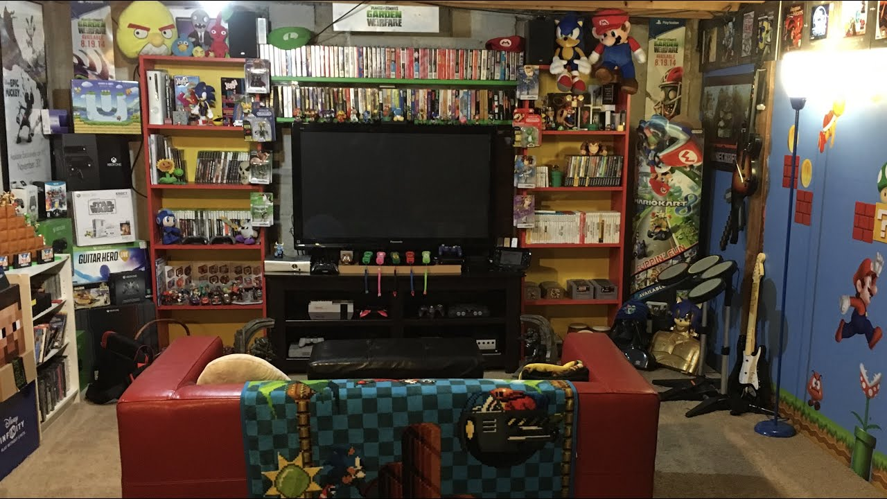 video gaming room furniture. Retro Video Game Room Tour Huge NES CIB Collection Gaming Furniture