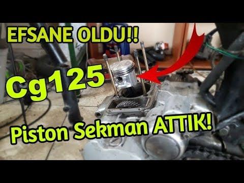 STIHL MS250 gaz ayarı fazla açıklaması sonucu piston segman sarmış.!