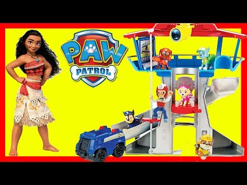 Paw Patrol Skye Saves Moana and Maui in Play-Doh Swimming Pool Playset | Ellie Sparkles