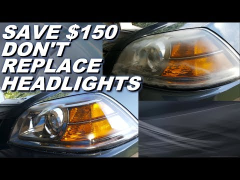How to clean and restore foggy hazy yellow headlights and save money. Acura MDX