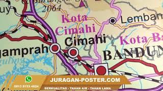 Jual Peta Jawa barat ukuran besar dan bahan tahan air - juragan poster