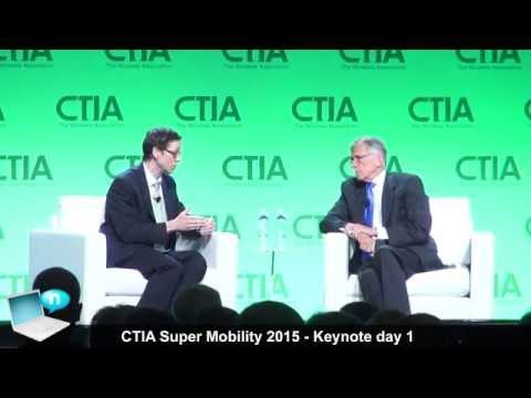 CTIA Super Mobility 2015 keynote day 1 - Jimmy Wales (Wikipedia) Tom Wheeler (FCC)
