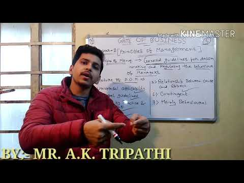 Principles of management, it's nature and importance (class 12 business studies) video# 05