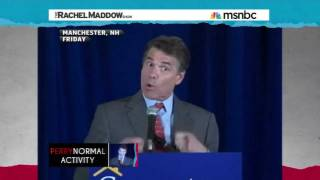 "Rick Perry's ""Drunk"" Video Bigger to Maddow Than the Cain Mess"