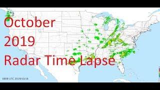 October 2019 US Weather Radar Time Lapse Animation