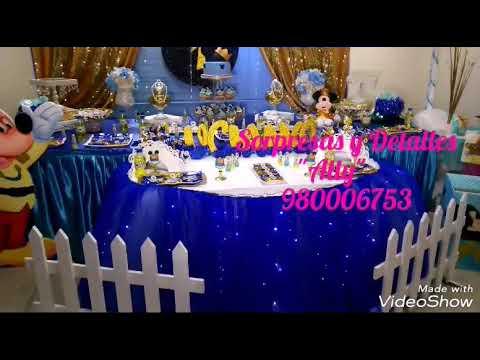 Sorpresas Y Detallesally Decoración Temática Mickey Rey 1er Añito Lucianito