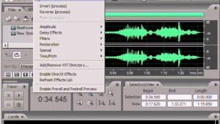 Видео уроки по Adobe Audition. Урок 2: Пункты меню