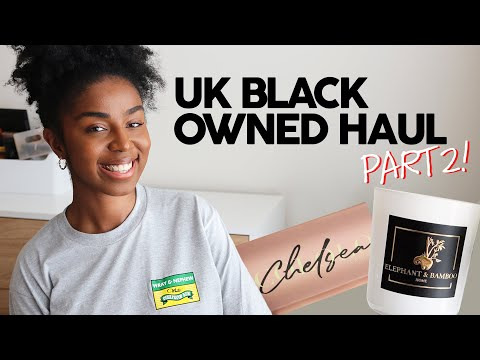 UK Black Owned Brands and Businesses Haul - Part 2! ✊??