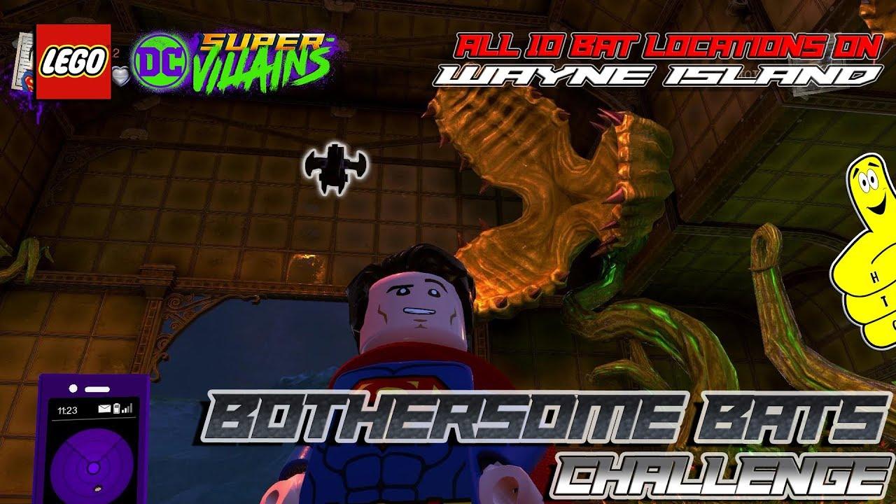 Lego Dc Super Villains Bothersome Bats Challenge All 10 Bat Locations Htg