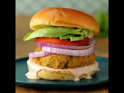 Chickpea Cauliflower Burger • Tasty