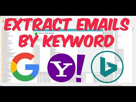 How To Extract Email Addresses using Search Engines