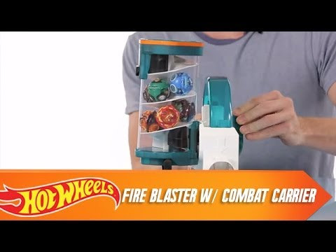 Ballistiks Rapid Fire Blaster w/ Combat Carrier - OFFICIAL Product Demo | Hot Wheels