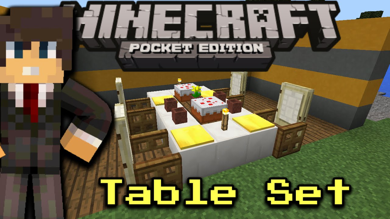 How to make a table with glass and plate minecraft pocket for Minecraft coffee table
