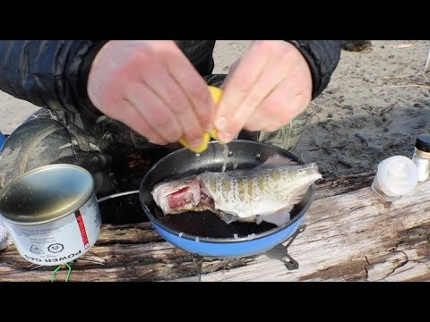 Catch n' Cook on the Beach | First Time Cooking a Fish on My New Backpacker's Stove!