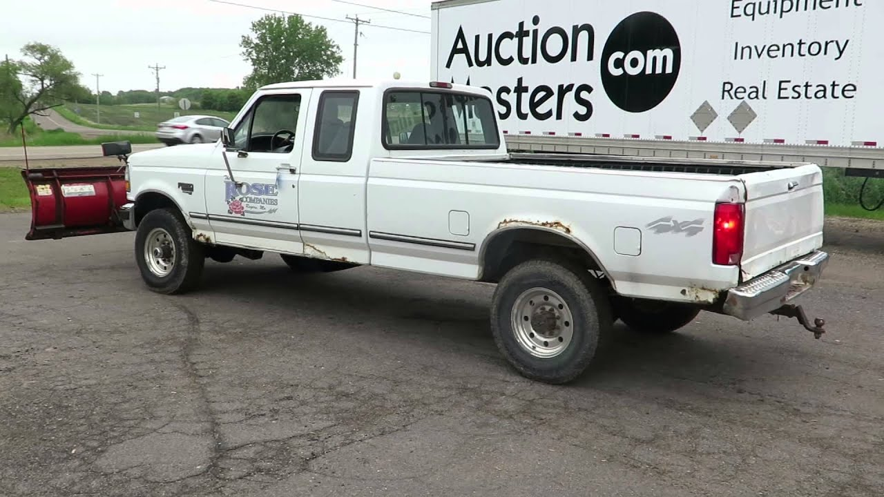 lot 23 1996 ford f250 truck 2 door extended cab 7 3 l diesel engine 8 box 4wd [ 1280 x 720 Pixel ]