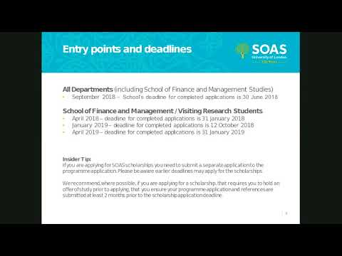 Applying for a Postgraduate Research Programme at SOAS University of London