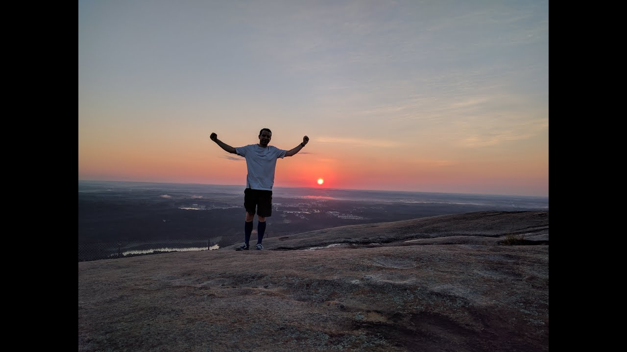 Climbing Stone Mountain To See The Sunrise July 9 2017 Youtube