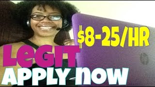 LEGIT WORK FROM HOME JOBS $8-$25/HR| NOW HIRING!!! |
