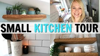 SMALL KITCHEN TOUR! BEFORE AND AFTER!