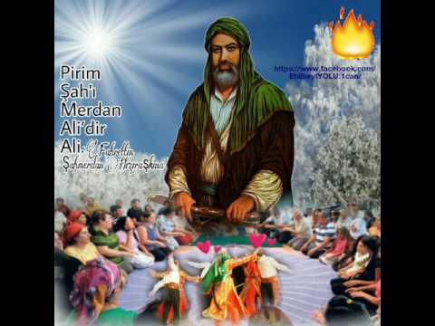Erenler Ceminde posta oturan.Pirim Şahı Merdan Ali'dir Ali.