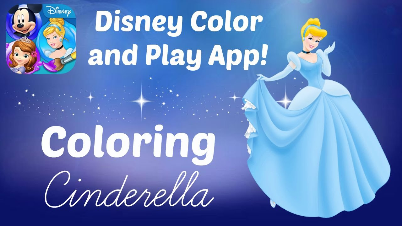 Disney Color And Play App Coloring Princess Cinderella Book