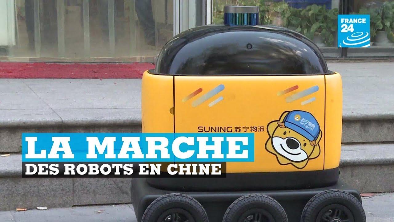 Le boom des robots livreurs en Chine