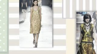 Модные золотые платья 2015