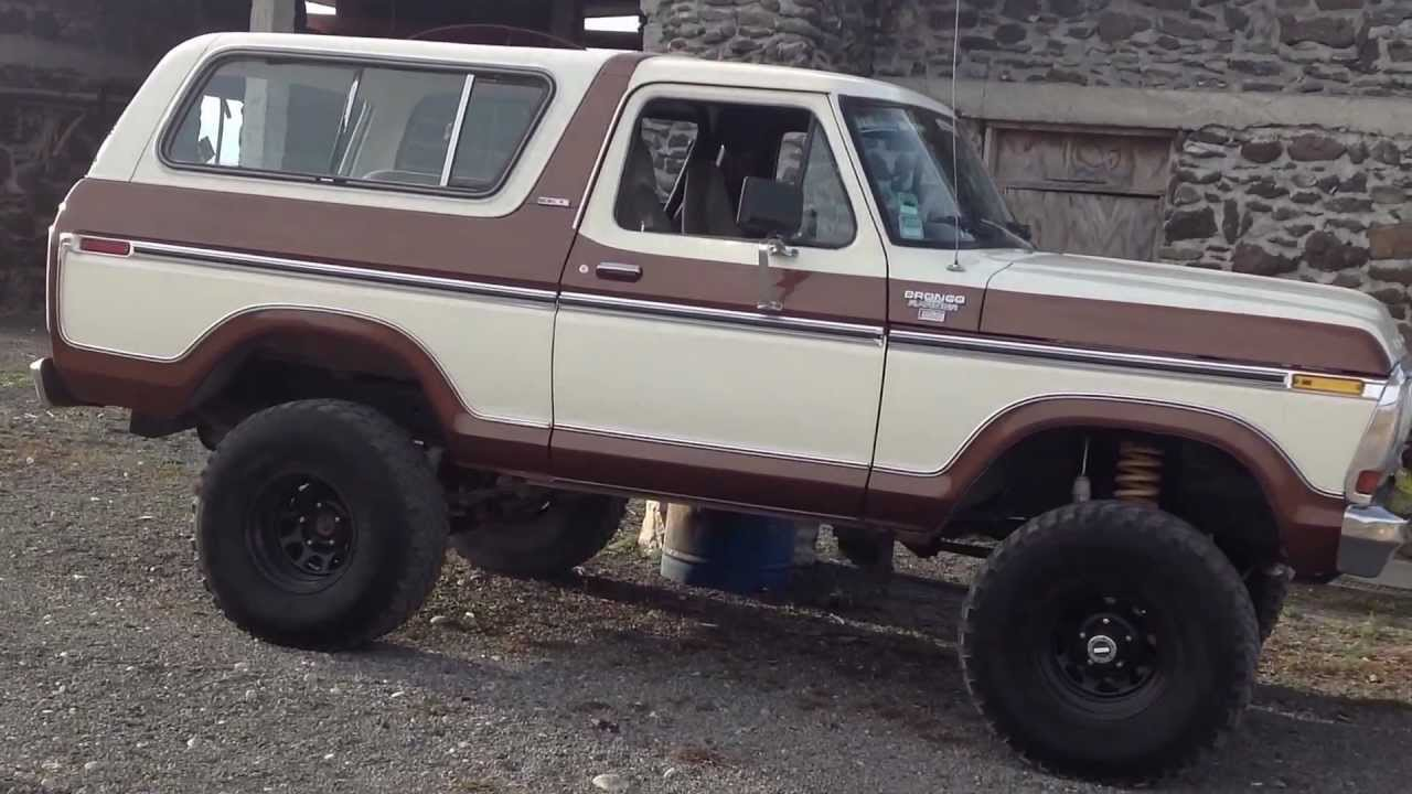 La Ford Bronco 78 Recien Pintada Youtube