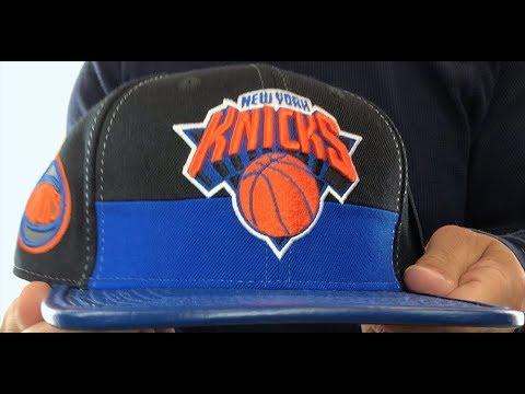 Knicks 'HORIZON STRAPBACK' Black-Royal Hat by Pro Standard