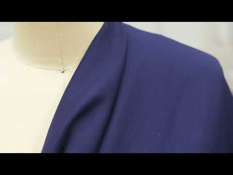Mood Fabrics 306749 Navy Stretch Nylon-Rayon Ponte Roma