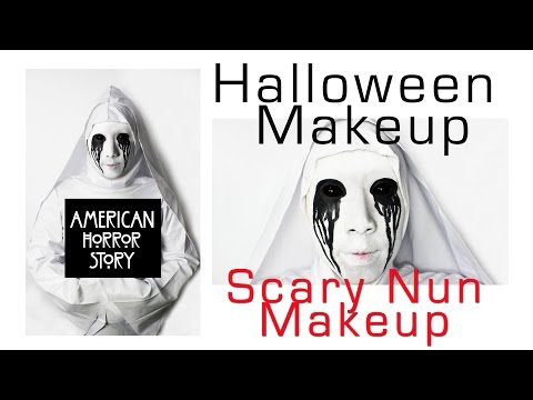 Halloween Makeup:  American Horror Story Scary Nun Makeup