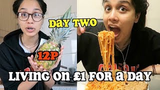 living on £1 a day for a week - DAY TWO | clickfortaz Mp3