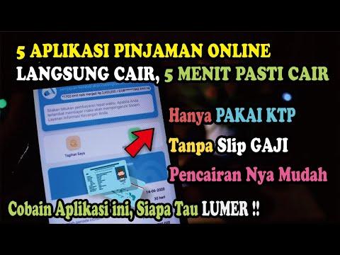 5 Aplikasi Pinjaman Online Langsung Cair Cuma Pakai Ktp 5 Menit