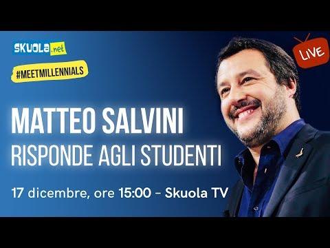 Il Vicepremier e Ministro dell'Interno Matteo Salvini risponde agli studenti - #MeetMillennials