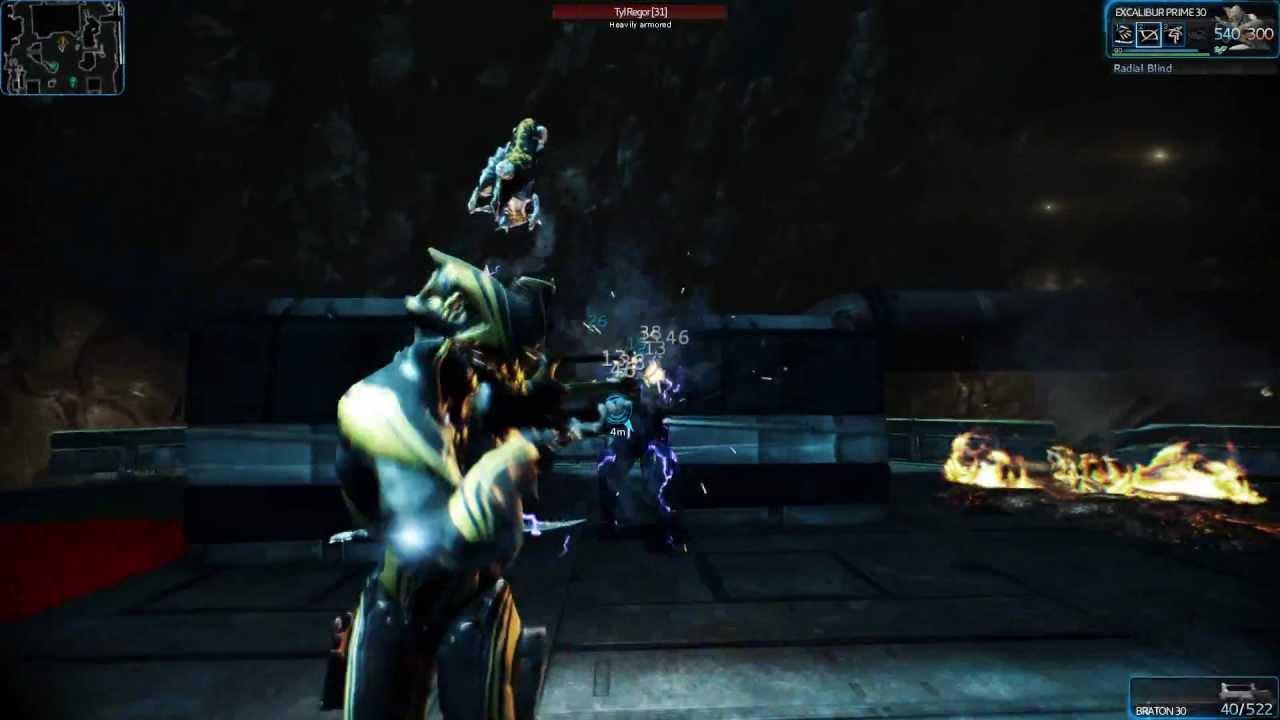 Warframe Excalibur Prime Gameplay