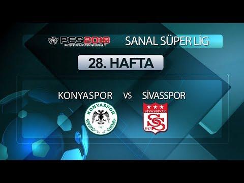 Konyaspor - Sivasspor | PES 2018 Sanal Süper Lig 28. Hafta
