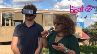 Vance Joy rides a virtual reality roller coaster while chatting with Nikki!