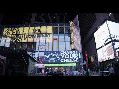 Miyoko on TRIO screens in Times Square, NYC