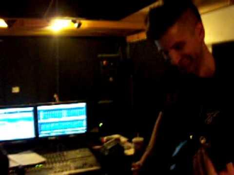 Reggie Hache recording Letting Go