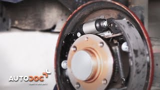 Installation Brake wheel cylinder yourself video instruction on VW LUPO
