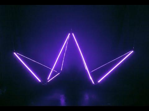 Floating Lines  [kinetic & audio-reactive light sculpture]