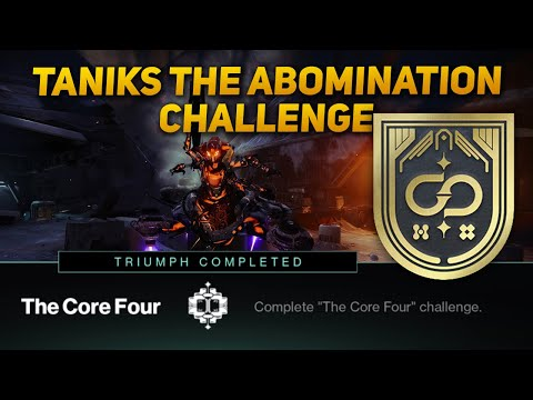 Destiny 2: Core Four Challenge - Taniks The ABomination Encounter Challenge (Deep Stone Crypt Raid)