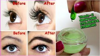 VITAMIN-E to Grow LONG EYELASHES & EYEBROWS - Simple & Effective Way