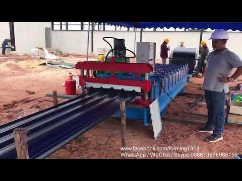 Automatic Corrugated Iron Roofing Sheet Making Machine ...