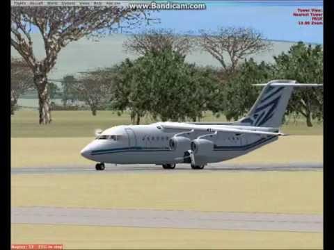 Fsx BAE-146-100 Air Botswana fly Johannesburg to Gaborone