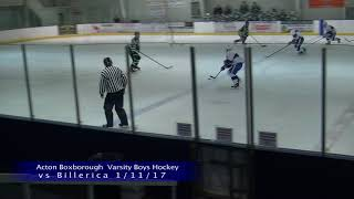 AB Boys Ice Hockey vs Billerica 1/11/17