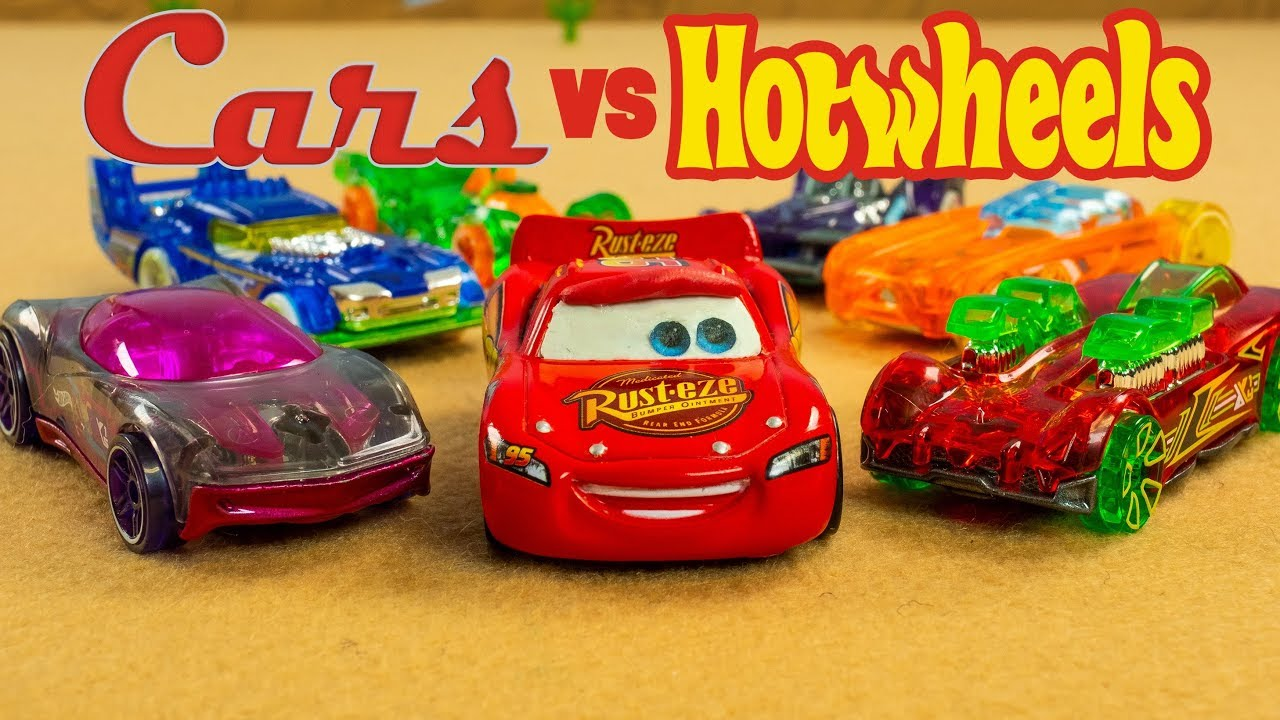 Cars vs. Hot Wheels Lightning McQueen faces off another brand of Cars