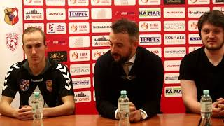 Konferencja po meczu GI Malepszy Futsal Leszno - Dunafeer Due Renalpin FC Dunaújváros
