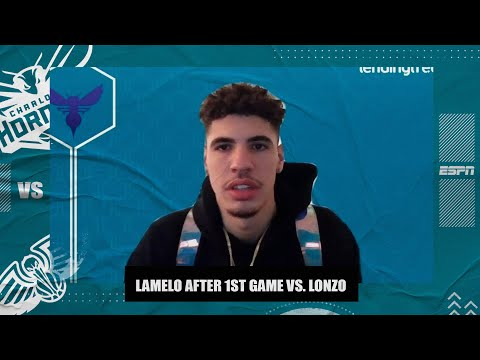 LaMelo Ball on first NBA game vs. Lonzo: 'It was cool to be out there with him' | NBA on ESPN