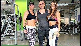 Fitness Models and Bikini Babe training together